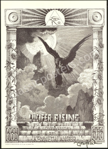 Signed Lucifer Rising Poster by Griffin