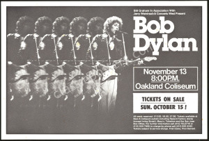 Attractive 1978 Bob Dylan Oakland Poster
