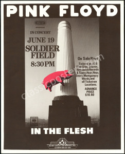 1977 Pink Floyd Soldier Field Poster