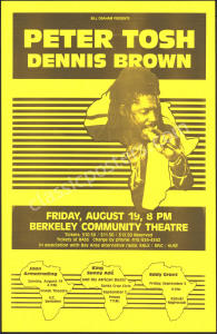 Peter Tosh Berkeley Poster from 1983